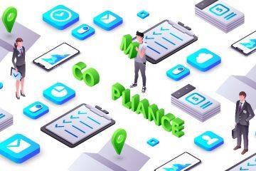 A imagem mostra três avatares e alguns ícones em volta.