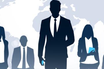 A imagem mostra sombras de funcionários de empresa.